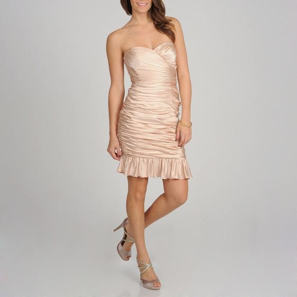 Jill Jill Stuart Women's Strapless Silk Charmeuse Dress