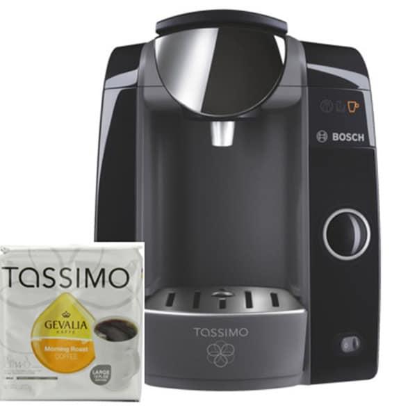 Bosch Tassimo T47 Beverage System with 12 Gevalia Coffee T Discs