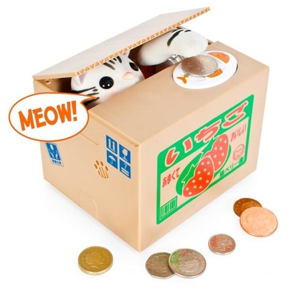 Mechanical Kitty Coin Bank