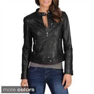 Whet blu Women's Motocross Leather Jacket - Free Shipping Today