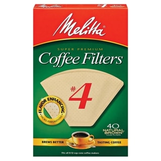 Melitta 624412 #4 Natural Brown Paper Cone Coffee Filters- 240 Count