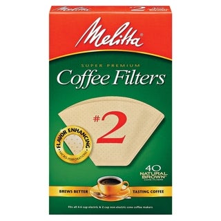 Melitta 612412 #2 Natural Brown Paper Cone Coffee Filters- 240 Count