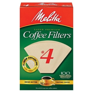 Melitta 624602 #4 Natural Brown Paper Cone Coffee Filters- 400 Count