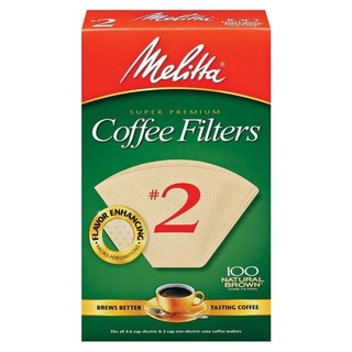 Melitta 622752 #2 Natural Brown Paper Cone Coffee Filters- 400 Count