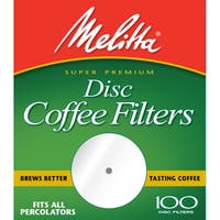 Paper White 3.5-inch Disc Coffee Filters-100 count
