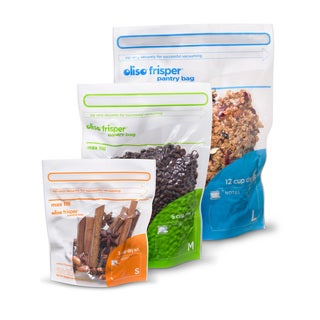 Oliso FCCB-6 Combo Pack Flexible Food-Storage Containers- 12 Total Bags