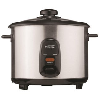 Brentwood TS-20 10 Cup Rice Cooker - Stainless Steel & Black