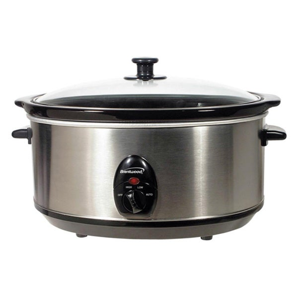 Brentwood 7 Qt. Slow Cooker Stainless