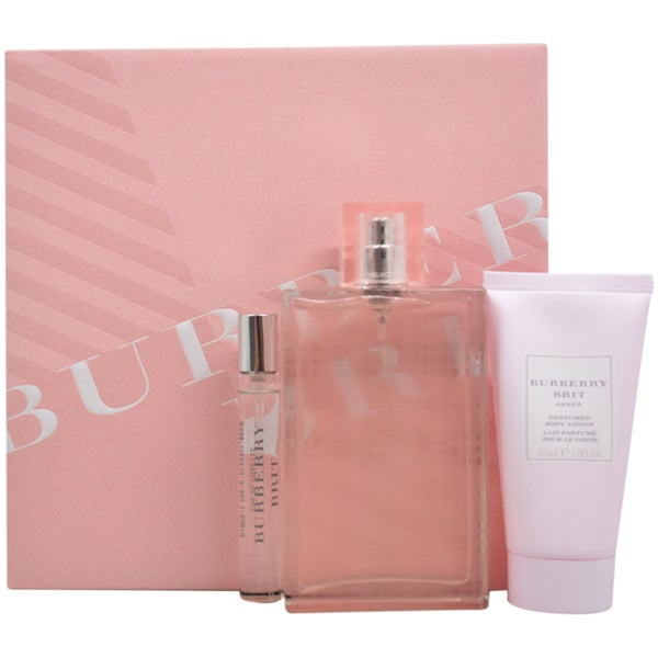 burberry brit sheer eau de toilette spray sqhc  Burberry Brit Sheer Women's 3-piece Gift Set
