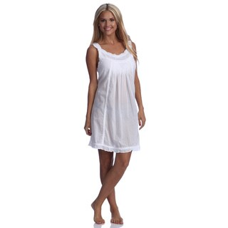 Embroidered Eyelet Nightdress