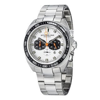 Stuhrling Original Men's Concorso 177 Quartz Chronograph Stainless Steel Bracelet Watch