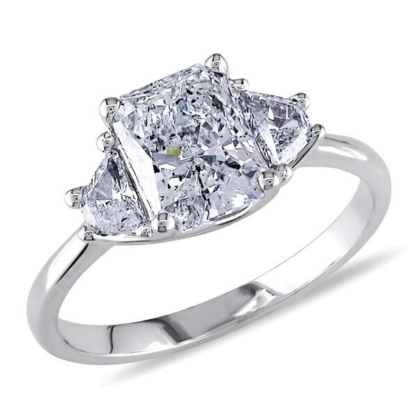 Miadora 14k White Gold 2ct TDW Diamond Engagement Ring (F-G, I1) (IGI)