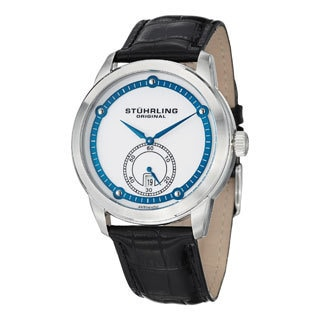 Stuhrling Original Men's Circuit Automatic Leather Strap Watch