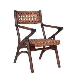 Decorative Brown Vintage Folding Arm Chair