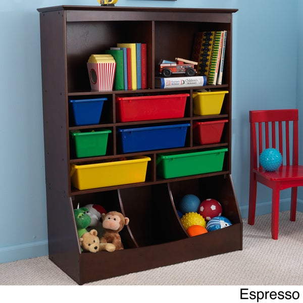 Childrens Kids 3 Tier Toy Bedroom Storage Shelf Unit 8: KidKraft Kid's Wall Storage Unit