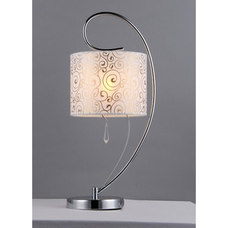 Rice Paper Table Lamp: Swirl Crystal Table Lamp,Lighting