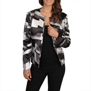 Kasper Women's Satin Geometric Blazer