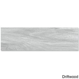 EmryTile Acacia Wood-like Porcelain 6 x 24-inch Tiles (Pack of 11)