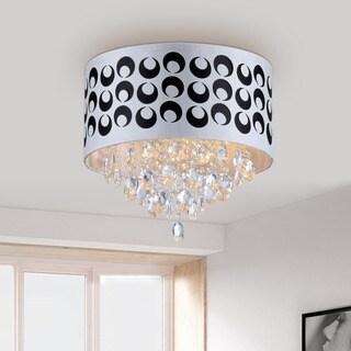 Tiffany-style Pattern Crystal Chandelier