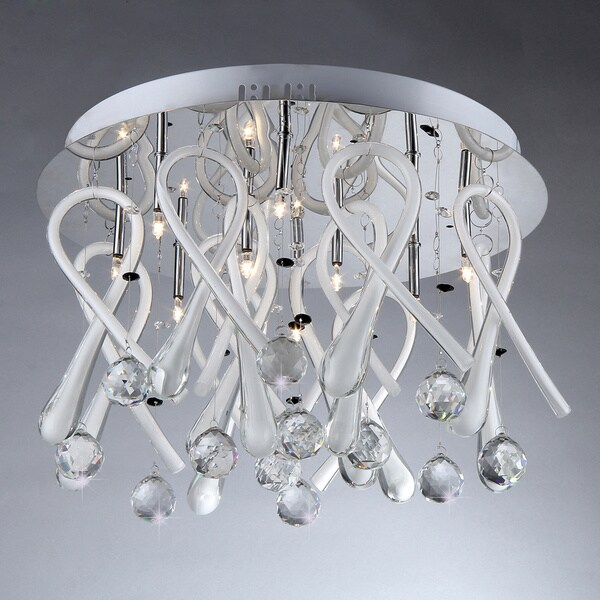 ribbon drops crystal chandelier  free shipping today  overstock, Lighting ideas