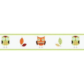 Sweet JoJo Designs Turquoise and Lime Hooty Owl Wall Border