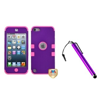 Insten TUFF Hybrid iPod Case Cover/ Stylus for Apple iPod Touch 5th/ 6th