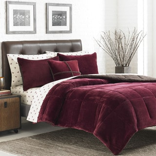 Eddie Bauer Premium Fleece 3-piece Reversible Comforter Set