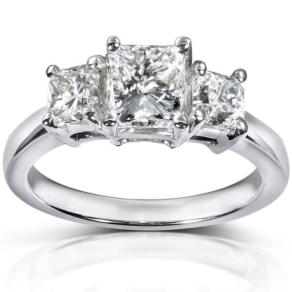 Annello by Kobelli 14k Gold Certified 2 1/6 ct TDW Radiant Cut Diamond Ring (F-G, SI3)