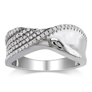 Miadora Sterling Silver Round-cut Cubic Zirconia Ring