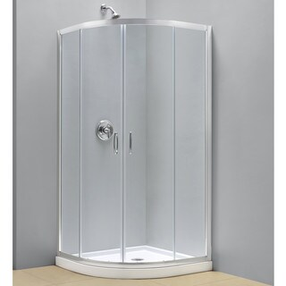 DreamLine Prime Frameless Sliding Shower Enclosure and SlimLine 36 x 36-inch Quarter Round Shower Floor