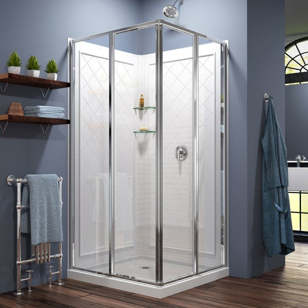 alcove wall enclosures camelia kit x in stalls and acrylic common base shower actual ca maax white piece