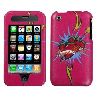 INSTEN Strawberry Sweetheart Clazzy Phone Case Cover for Apple iPhone 3G/ 3GS