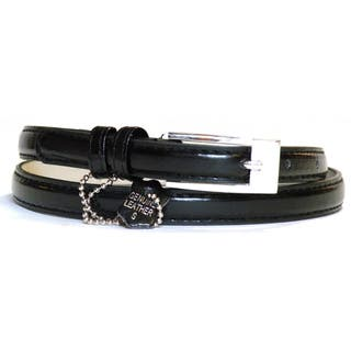 Women's Black Leather Skinny Belt|https://ak1.ostkcdn.com/images/products/8246900/8246900/Womens-Black-Leather-Skinny-Belt-P15573792.jpg?impolicy=medium