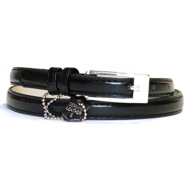 Skinny Black Belt Women'S