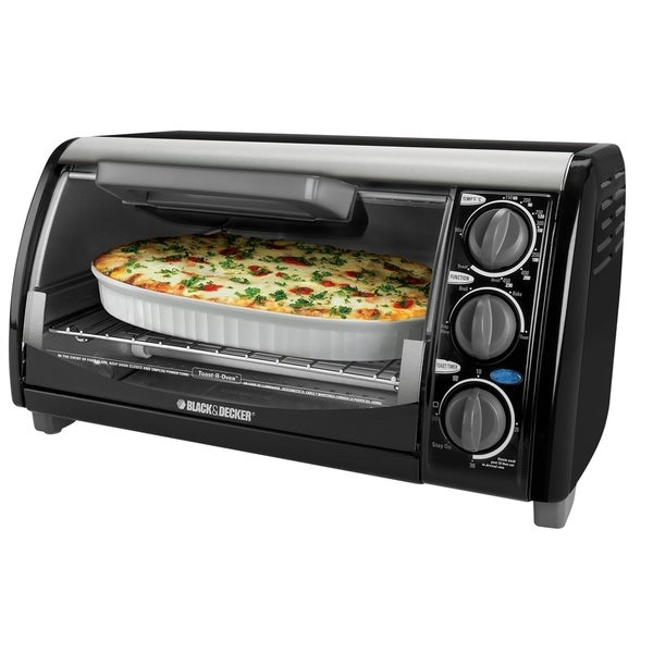 Black & Decker Black 4-Slice Toaster Oven (Refurbished)