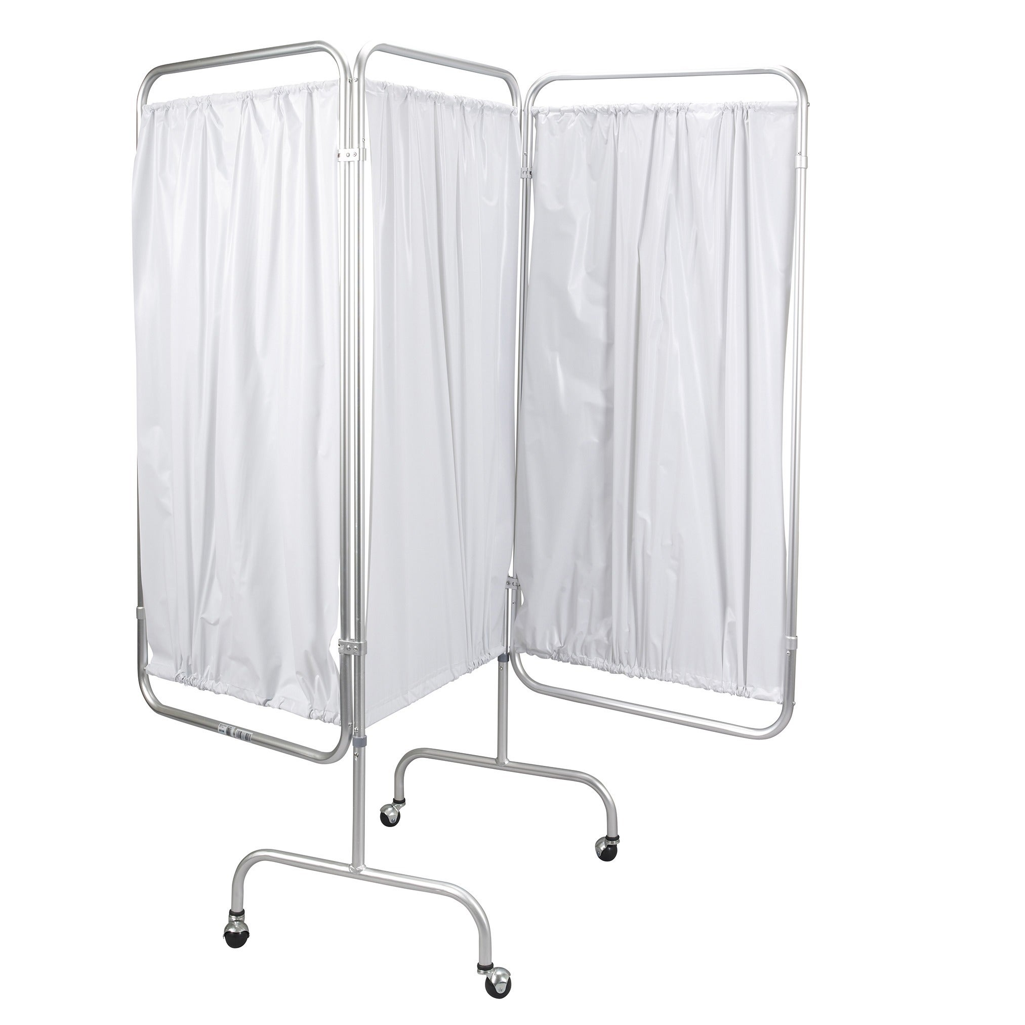Drive Medical 3-panel Privacy Screen, Silver aluminum