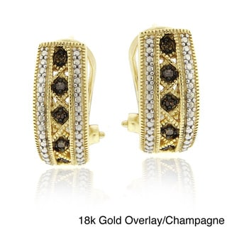 DB Designs Sterling Silver Or Gold Overlay 1/10ct TDW Diamond endless Earrings
