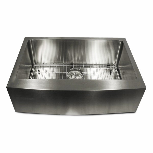 Apron Sink 30 : Stainless Steel 30-inch Apron Kitchen Sink - Free Shipping Today ...