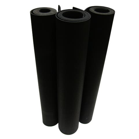 Rubber-Cal Elephant Bark Rolled Rubber Flooring - 1/4-inch x 4ft Wide Rubber Runners