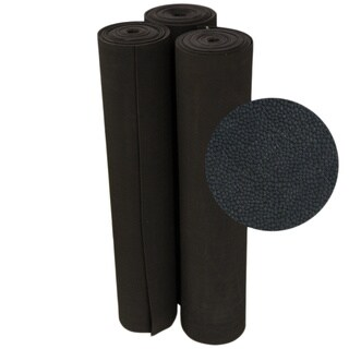 Rubber-Cal Tuff-N-Elastic Black Rubber Flooring Mat - 1/8 x 48-inch Rubber Runner - 8 Available Lengths