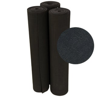 Rubber-Cal Tuff-N-Elastic Black Rubber Flooring Mat - 1/8 x 48-inch Rubber Runner - 8 Available Lengths (More options available)