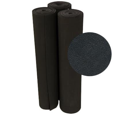 Rubber-Cal Tuff-N-Elastic Black Rubber Flooring Mat - 1/8 x 48-inch Rubber Runner - 8 Available Lengths - 48 x 72