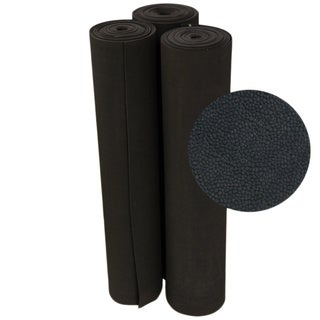 Rubber-Cal Tuff-N-Elastic Black Rubber Flooring Mat - 1/8 x 48-inch Rubber Runner - 8 Available Lengths