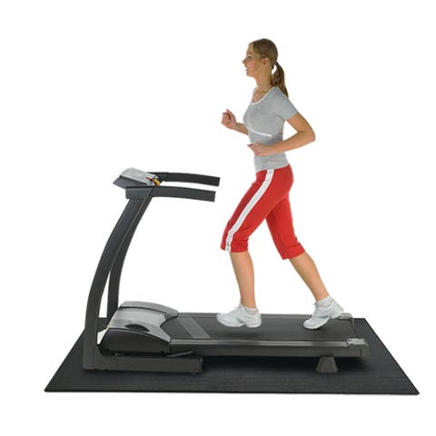 Rubber-Cal Black 3/16-inch Thick Treadmill Mat