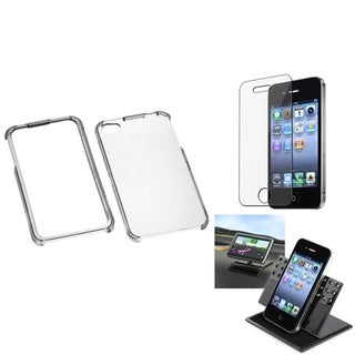 INSTEN Car Dashboard Holder/ T-Clear Phone Case Cover for Apple iPhone 4/ 4S