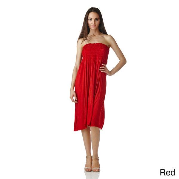 Stanzino Women&39s Strapless Smocked Dress - Free Shipping On Orders ...