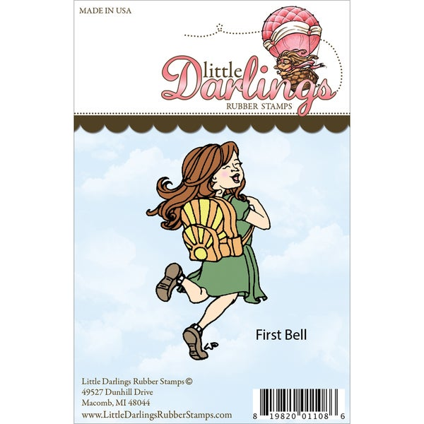 Little Darlings Unmounted Rubber Stamp-First Bell