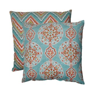 Pillow Perfect Mirage/ Chevron 24.5-inch Decorative Pillows (Set of 2)