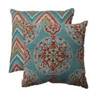Pillow Perfect Mirage/ Chevron 16.5-inch Throw Pillows (Set of 2)