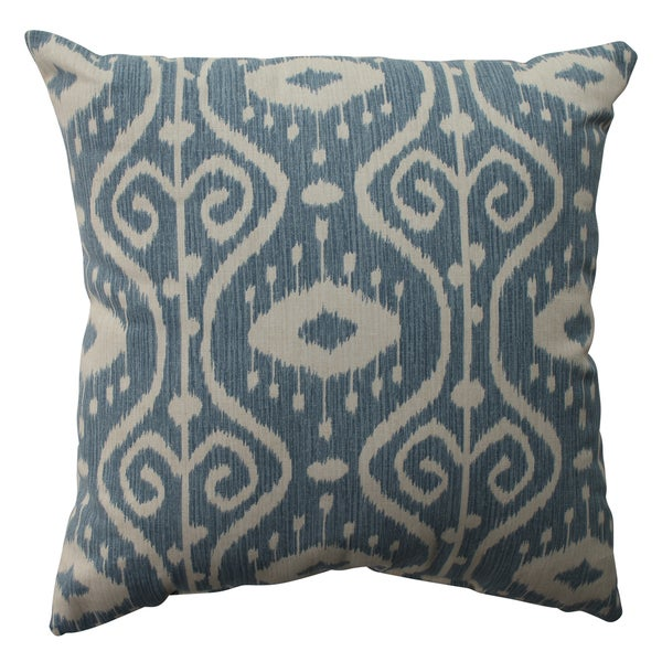 Pillow Perfect Ikat Empire Yacht 16 5 inch Throw Pillow Free